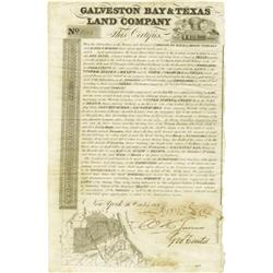 Galveston Bay & Texas Land Co. Emmpresario; 1830