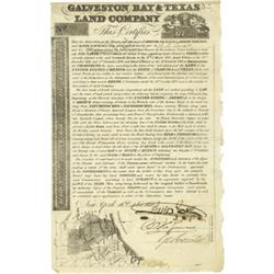 J.R. Poinsett's Certificate for Texas