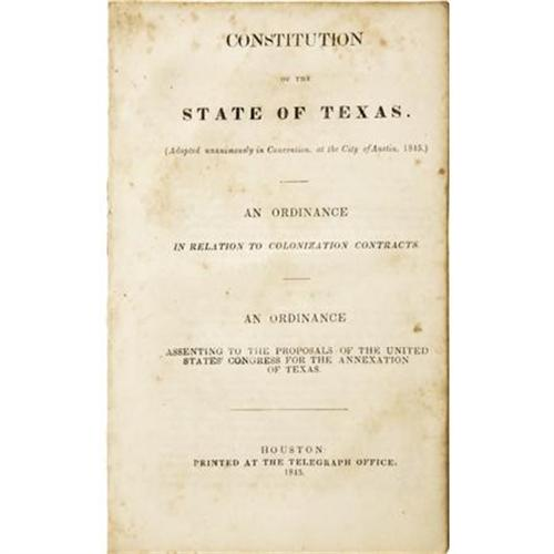 constitution of the state of texas 1845