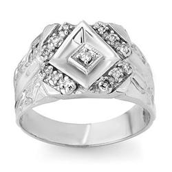 CERTIFIED QUALITY 0.25ctw DIAMOND MEN'S RING WHITE GOLD