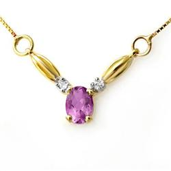 CERTIFIED 1.30ctw AMETHYST & DIAMOND NECKLACE GOLD