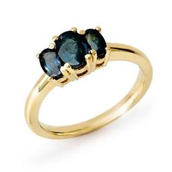 CERTIFIED THREE-STONE  1.0ct SAPPHIRE RING YELLOW GOLD