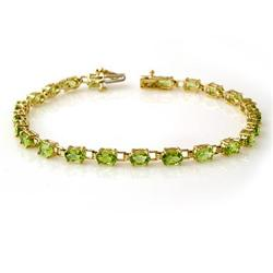 ACA CERTIFIED 6.0ct PERIDOT LADIES TENNIS BRACELET GOLD