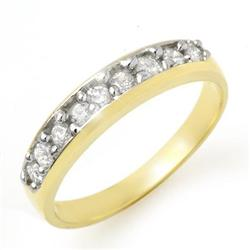 OVERSTOCK 0.50ctw ACA CERTIFIED DIAMOND BAND 14K GOLD