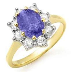 ACA CERTIFIED 2.75ct DIAMOND & TANZANITE RING 14KT GOLD