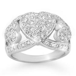 OVERSTOCK 1.50ctw DIAMOND LADIES RING 14KT WHITE GOLD