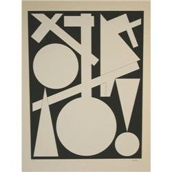 AUGUSTE HERBIN S.Silkscreen Abstract Art