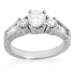 THREE-STONE 1.01ctw ACA CERTIFIED DIAMOND RING 14K GOLD