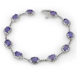 BRACELET 11.40ctw ACA CERTIFIED DIAMOND & TANZANITE