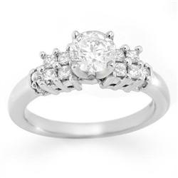 SOLITAIRE 1.20ctw ACA CERTIFIED DIAMOND RING 14KT GOLD