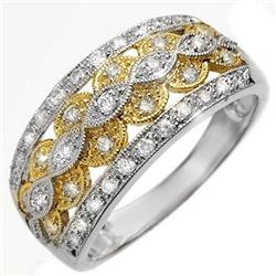 RIGHT-HAND 0.40ctw ACA CERTIFIED DIAMOND RING GOLD