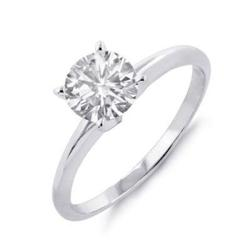 I1-H DIAMOND 1.0 CT SOLITAIRE ENGAGEMENT RING 14K GOLD