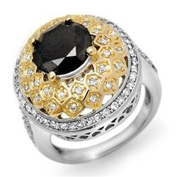 ACA FAMOUS 4.55ctw WHITE & BLACK DIAMOND RING 14KT GOLD