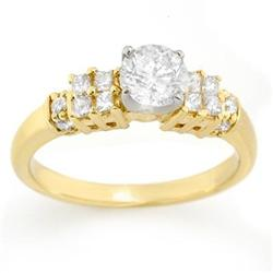SOLITAIRE 1.00ctw ACA CERTIFIED DIAMOND RING 14KT GOLD