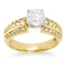 SOLITAIRE 1.70ctw ACA CERTIFIED DIAMOND RING 14KT GOLD