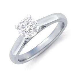 SI3-J SOLITAIRE DIAMOND 1.0 CT ENGAGEMENT RING 14K GOLD