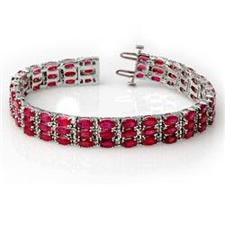 30.26ctw ACA CERTIFIED DIAMOND & RUBY BRACELET 14K GOLD