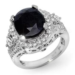 FAMOUS 8.65ct CERTIFIED DIAMOND SAPPHIRE RING 14KT GOLD