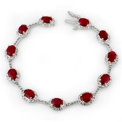 BRACELET 12.40ctw ACA CERTIFIED DIAMOND & RUBY GOLD