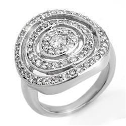 FAMOUS & CERTIFIED 1.30ctw DIAMOND RING 14KT WHITE GOLD