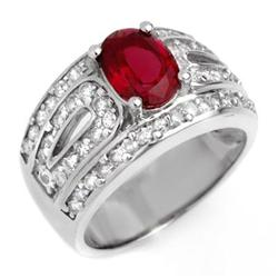 FINE 2.54ctw ACA CERTIFIED DIAMOND & RUBELLITE RING