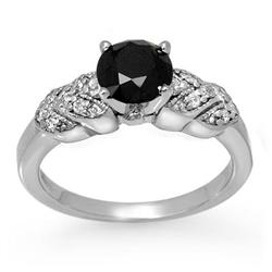 CERTIFIED 1.75ctw WHITE & BLACK DIAMOND RING 14KT GOLD