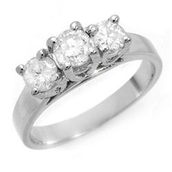 THREE-STONE 1.50ctw ACA CERTIFIED DIAMOND RING GOLD
