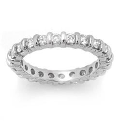 ETERNITY 1.25ctw ACA CERTIFIED DIAMOND BAND 14K W GOLD