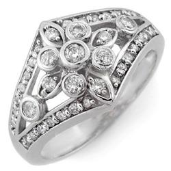 RIGHT-HAND 0.75ct ACA CERTIFIED DIAMOND RING WHITE GOLD