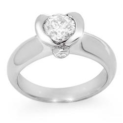 SOLITAIRE 1.0ctw ACA CERTIFIED DIAMOND RING 14KT GOLD