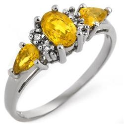 RING 1.33ctw ACA CERTIFIED DIAMOND & YELLOW SAPPHIRE
