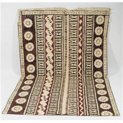 A PACIFIC ISLAND BARK CLOTH (tapa)