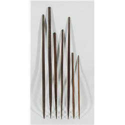 A COLLECTION OF SEVEN CENTRAL AUSTRALIAN SPEAR TIPS