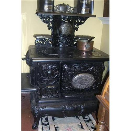 Antique Prizer Ornate Cast Iron Wood Cook Stove#1946179 - Antique Cast Iron Wood Stove WB Designs