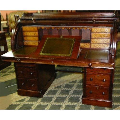 - Antique Victorian Cylinder Desk #1912264