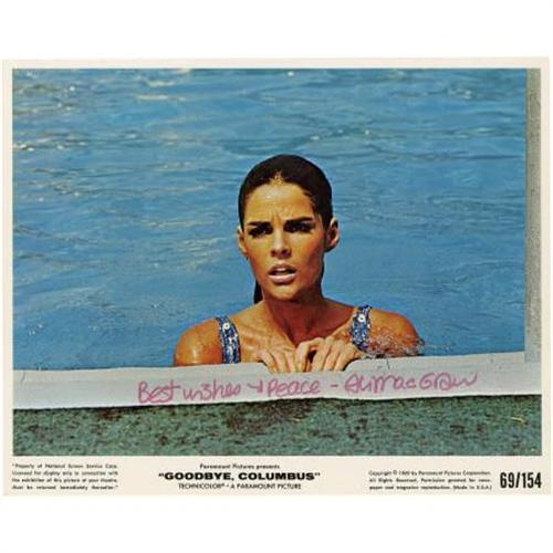 Ali macgraw autographed photo goodbye columbus for 13 floor full movie