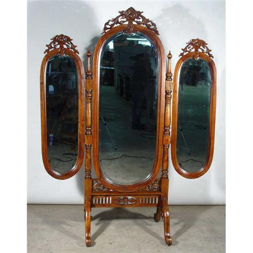 TRIFOLD VICTORIAN LADIES FULL LENGTH MIRROR #1932826