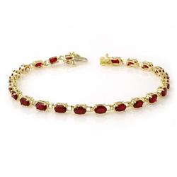 ACA CERTIFIED 7.0 ctw RUBY LADIES TENNIS BRACELET GOLD