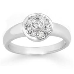CERTIFIED 0.35ctw DIAMOND ANNIVERSARY RING WHITE GOLD