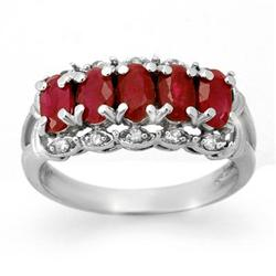 OVERSTOCK 2.0ctw CERTIFIED RUBY & DIAMOND RING GOLD