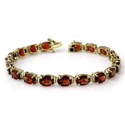 ACA GENUINE 28.0 ctw GARNET TENNIS BRACELET YELLOW GOLD