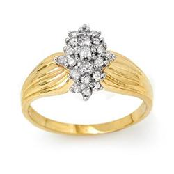 CLUSTER 0.25 ctw DIAMOND LADIES RING YELLOW GOLD
