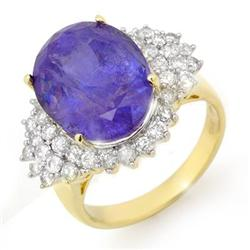 CERTIFIED 11.25ctw TANZANITE & DIAMOND RING 14K GOLD
