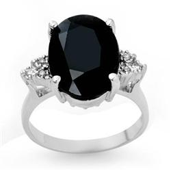CERTIFIED 7.76ctw SAPPHIRE & DIAMOND RING WHITE GOLD