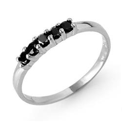 CERTIFIED 0.25 ctw BLACK DIAMOND LADIES RING WHITE GOLD