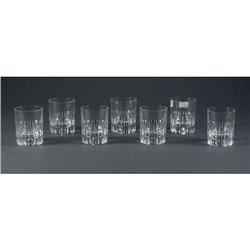 Set of 7 Bacarrat Crystal tumblers
