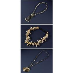 THREE MIRIAM HASKELL COSTUME JEWELRY NECKLACES