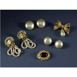 COSTUME JEWELRY MIRIAM HASKELL EARRINGS & PINS