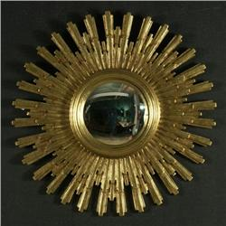 DECORATOR SUNBURST GOLD CONVEX MIRROR