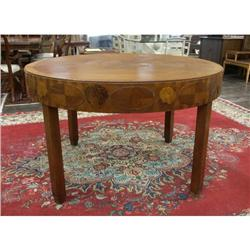Round Art Deco Antique Dining Table